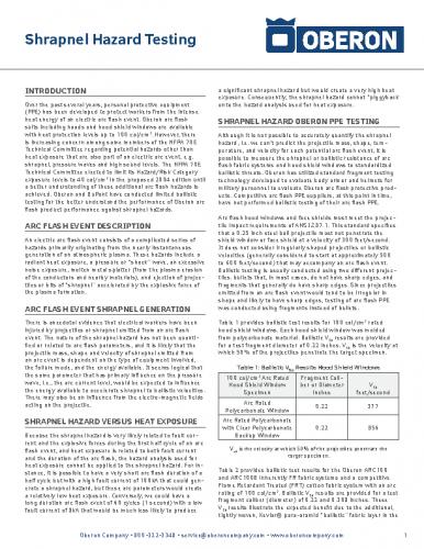 Shrapnel Hazard White Paper