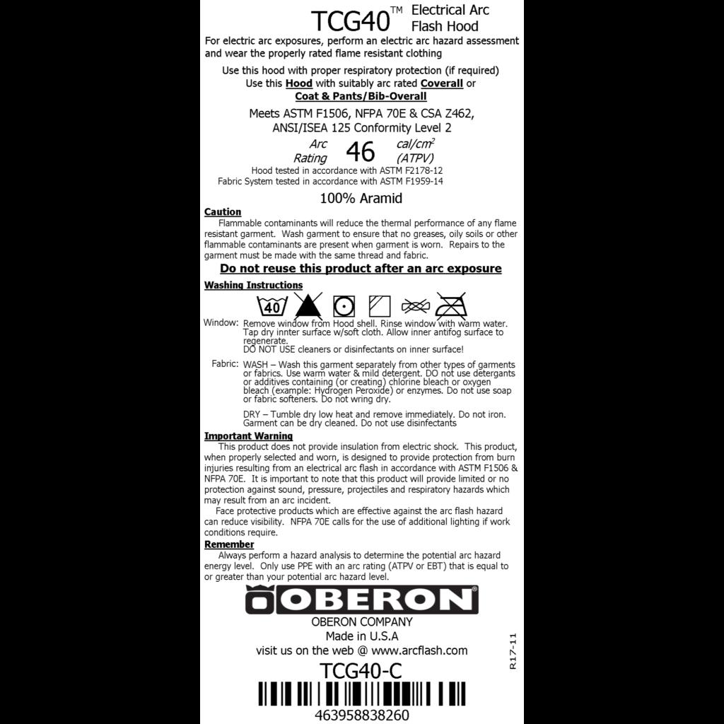 astm f1506 tcg 40 label