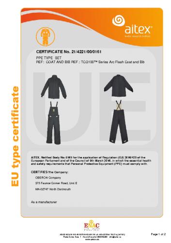 TCG100-CE-Certificate-Coat-Bib